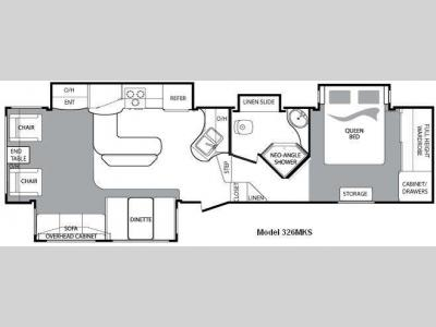 Floorplan - 2010 Keystone RV Cougar 326MKS