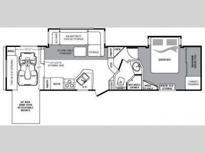 Floorplan - 2010 Keystone RV Cougar 320SRX
