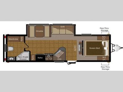 Floorplan - 2010 Keystone RV Sprinter 250RBS