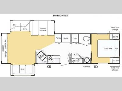 Floorplan - 2010 Keystone RV Sprinter 297RET