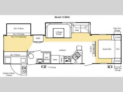 Floorplan - 2010 Keystone RV Sprinter 311BHS
