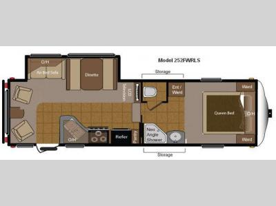 Floorplan - 2010 Keystone RV Sprinter Copper Canyon 252FWRLS
