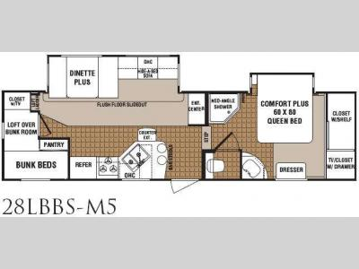 Floorplan - 2010 Dutchmen RV North Shore 28LBBS-M5