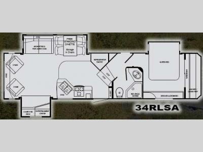 Floorplan - 2010 Heartland Eagle Ridge 34RLSA