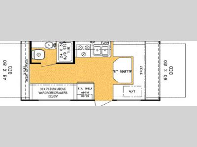Floorplan - 2003 Forest River RV Rockwood Roo 21 FD