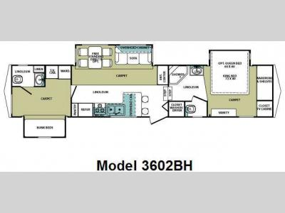 Floorplan - 2010 Forest River RV Cardinal 3602BH