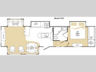 Floorplan - 2010 Keystone RV Everest 345S