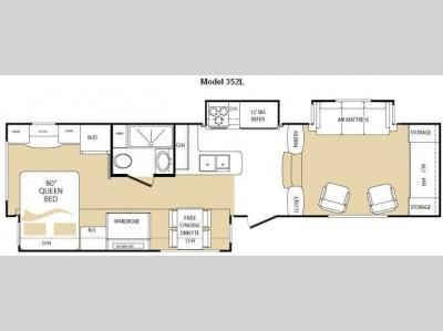 Floorplan - 2010 Keystone RV Everest 352L