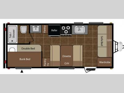 Floorplan - 2010 Keystone RV Summerland 1890FL