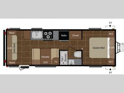 Floorplan - 2010 Keystone RV Summerland 2560RL