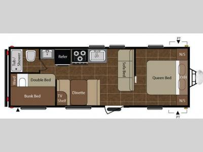 Floorplan - 2010 Keystone RV Summerland 2600TB