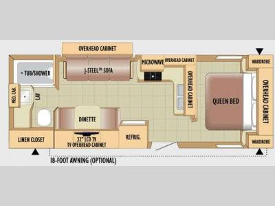 Floorplan - 2010 Jayco Jay Feather 24T