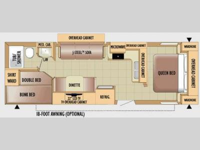 Floorplan - 2010 Jayco Jay Feather 28R