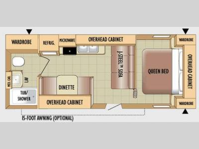 Floorplan - 2010 Jayco Jay Flight 22FB
