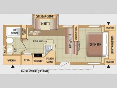 Floorplan - 2010 Jayco Jay Flight 24FBS
