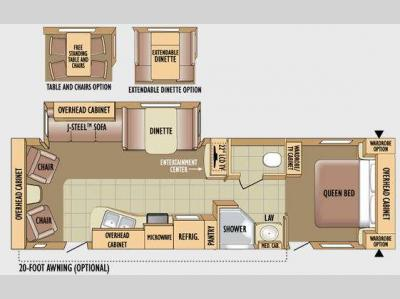 Floorplan - 2010 Jayco Jay Flight G2 29RLS