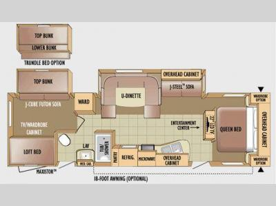 Floorplan - 2010 Jayco Jay Flight G2 32BHDS