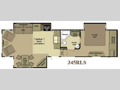 Floorplan - 2010 Open Range RV 345RLS