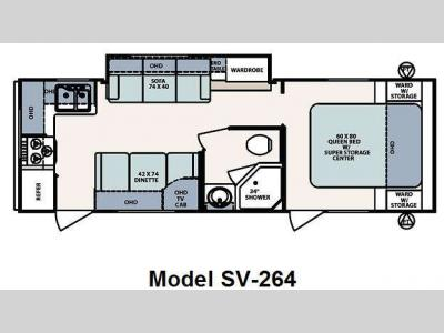 Floorplan - 2010 Forest River RV Surveyor SV-264