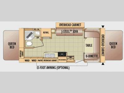 Floorplan - 2010 Jayco Jay Feather EXP 23B