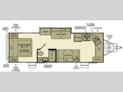 Floorplan - 2010 EverGreen RV Ever-Lite 29FK