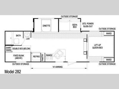 Floorplan - 2010 Skyline Layton 282
