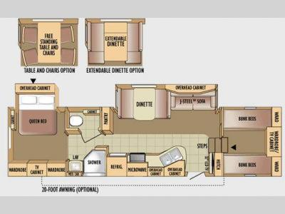 Floorplan - 2010 Jayco Eagle Super Lite 31.5FBHS