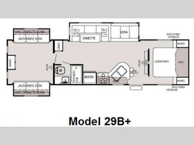 Floorplan - 2010 Forest River RV Cherokee 29B