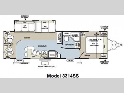 Floorplan - 2010 Forest River RV Rockwood Signature Ultra Lite 8314SS