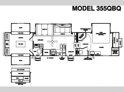 Floorplan - 2010 Forest River RV Sierra 355QBQ
