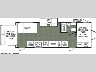 Floorplan - 2010 Dutchmen RV Aerolite 25QS