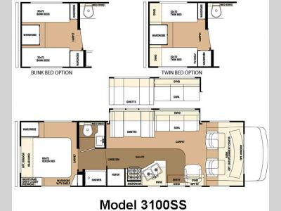 Floorplan - 2010 Forest River RV Sunseeker 3100SSChevy