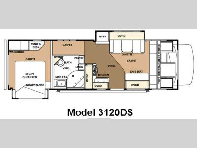 Floorplan - 2010 Forest River RV Sunseeker 3120DSFord
