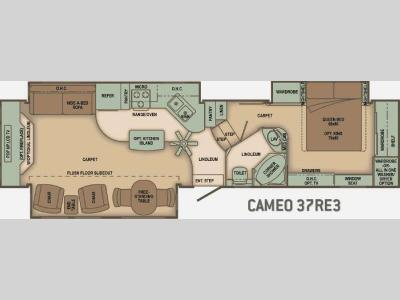 Floorplan - 2010 Carriage Cameo 37RE3