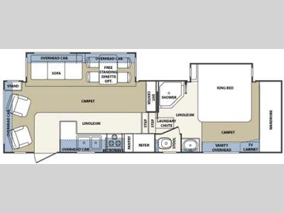 Floorplan - 2004 Forest River RV Cardinal 29 WB