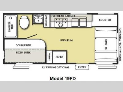 Floorplan - 2009 Forest River RV Salem LE 19FD