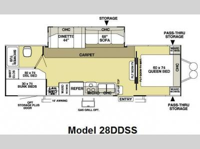 Floorplan - 2010 Forest River RV Salem LE 28DDSS