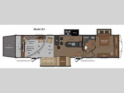 Floorplan - 2010 Keystone RV Fuzion 383