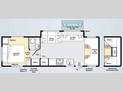 Floorplan - 2010 Winnebago Access 31C
