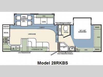 Floorplan - 2010 Forest River RV Wildcat 28RKBS