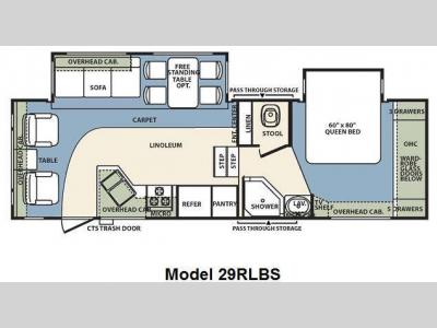 Floorplan - 2010 Forest River RV Wildcat 29RLBS
