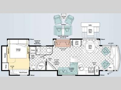 Floorplan - 2010 Itasca Ellipse 42AD