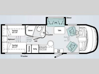 Floorplan - 2010 Winnebago Via 25T