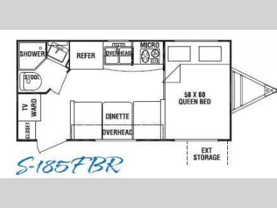 Floorplan - 2010 Cruiser Shadow S-185FBR
