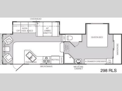 Floorplan - 2004 Keystone RV Mountaineer 298RLS