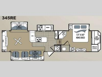 Floorplan - 2010 Dutchmen RV Grand Junction 345RE