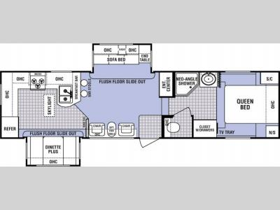 Floorplan - 2005 Dutchmen RV Denali 31 RG-M5