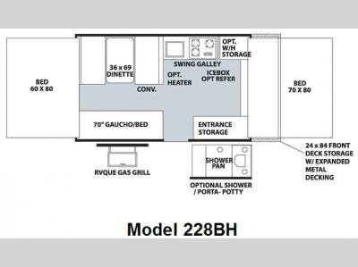 Floorplan - 2010 Forest River RV Flagstaff MAC LTD Series 228BH