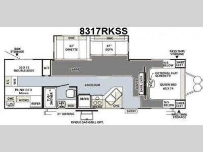 Floorplan - 2010 Forest River RV Rockwood Signature Ultra Lite 8317RKSS
