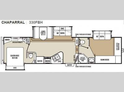 Floorplan - 2010 Coachmen RV Chaparral 330FBH